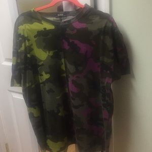 Zara Two Tone Camo Oversized Tee